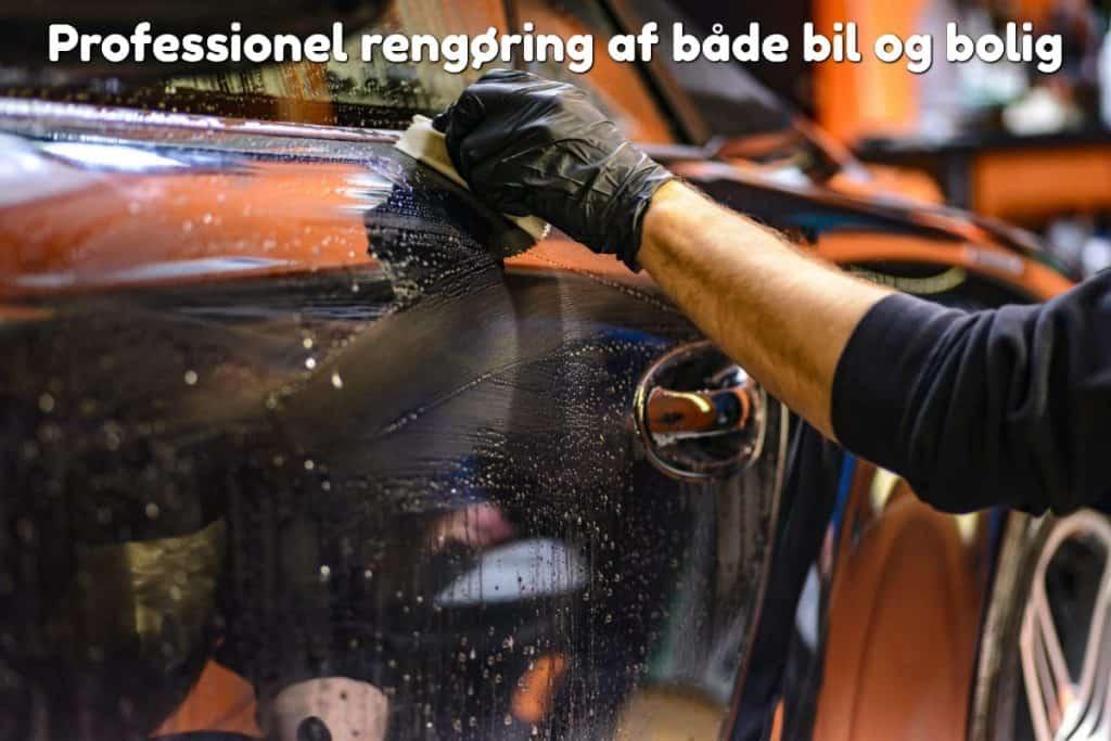 Professionel rengøring af både bil og bolig